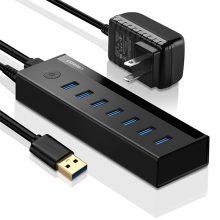 هاب USB 3.0 هفت پورت یوگرین (Ugreen) مدل ۴۰۵۲۱ همراه با آدابپتور