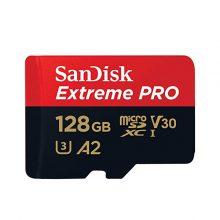 مموری کارت میکرو اس دی سن دیسک(SanDisk) مدل Extreme Pro با ظرفیت ۱۲۸GB A2